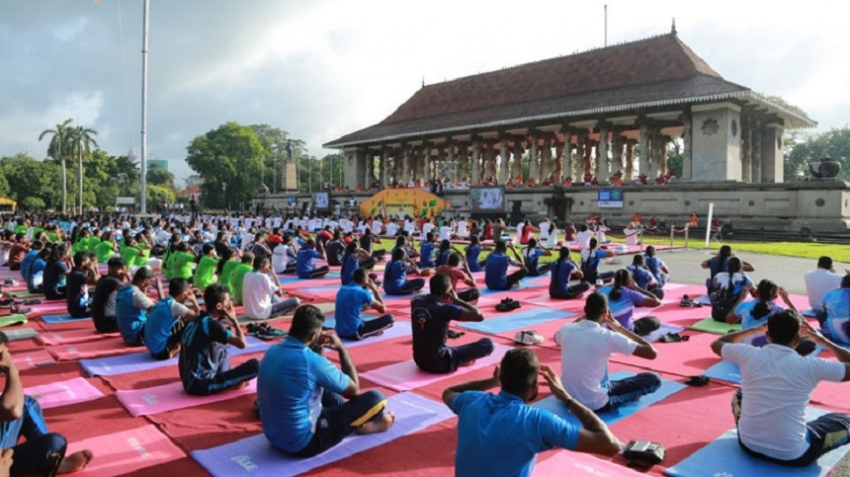 International Day of Yoga celebrations held at Independence Square