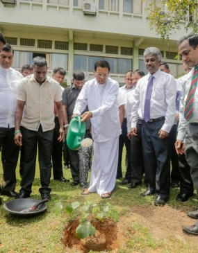 President visits Central Environmental Authority