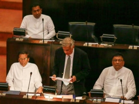 Maithripala Sirisena, as  Sri Lanka's President makes his first appearance in Parliament