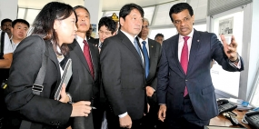 Japanese Defense Minister visits Colombo harbor
