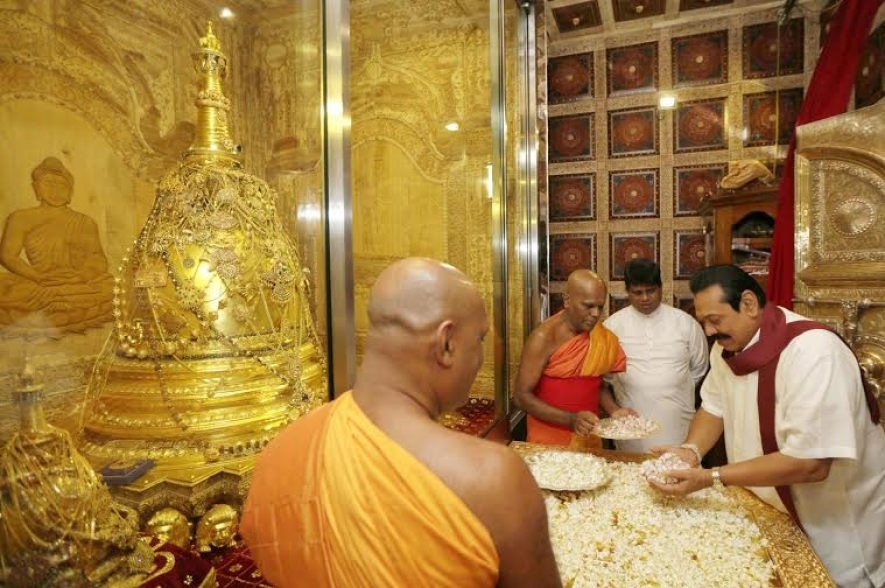 President pay homage to Sacred Tooth Relic in Kandy