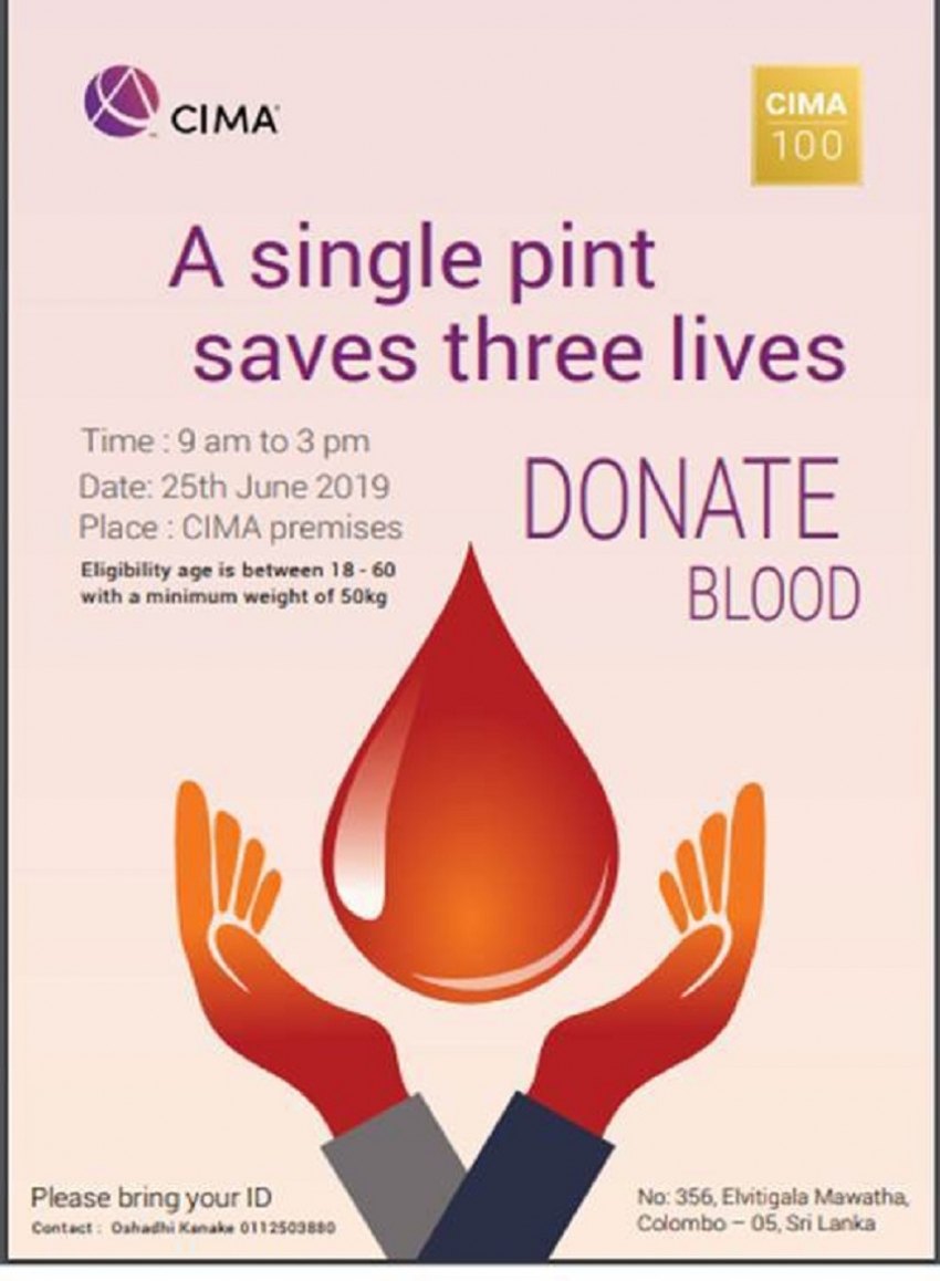 CIMA Blood Donation today