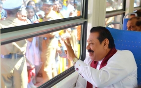 Inauguration of Pallai-Jaffna reconstructed railway track and signal system