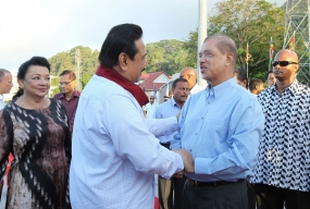 President Rajapaksa Returns After Visits to Maldives and Seychelles