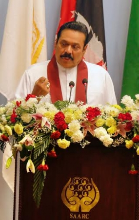 President Rajapaksa Calls on SAARC Nations to Join Forces Against External Threats