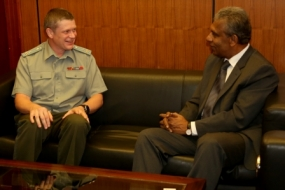 Russian Defence Attaché meets Secretary