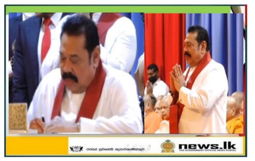 Mahinda Rajapaksa assumed duties as the Prime Minister