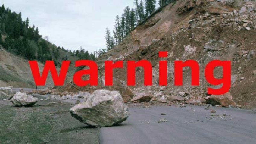 Landslide warning to three districts
