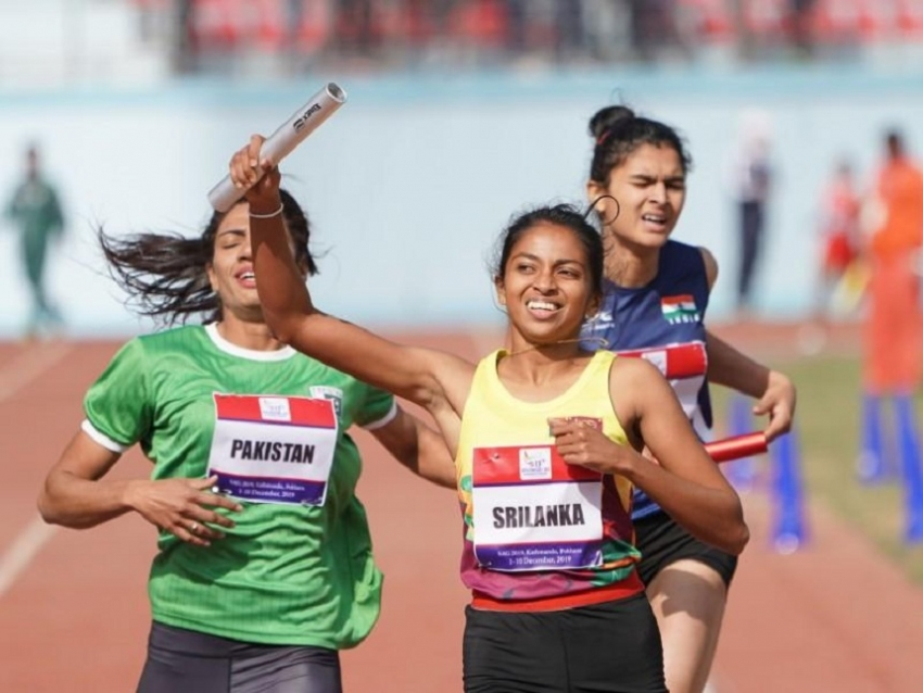 Sri Lanka finish strong in track and field to complete 15-gold medal