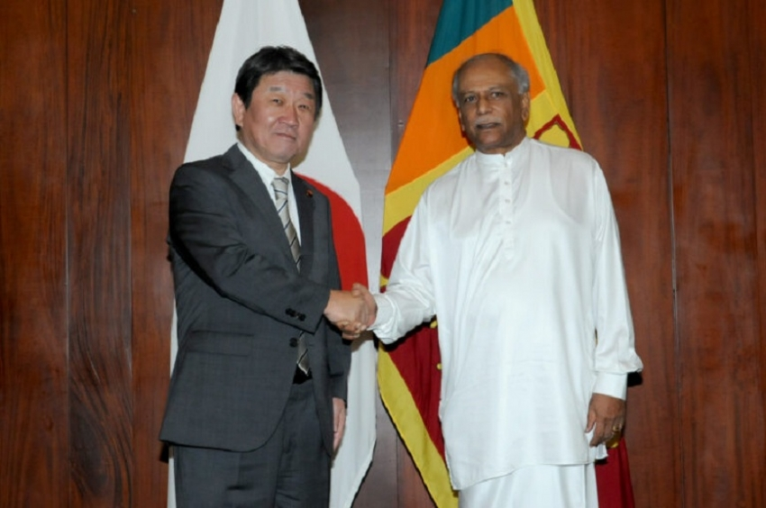 JAPAN FM REAFFIRMS  TO BROADEN COOPERATION WITH SRI LANKA