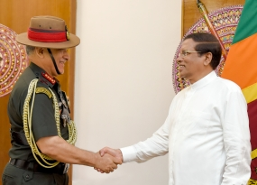 Indian Army Chief calls on President