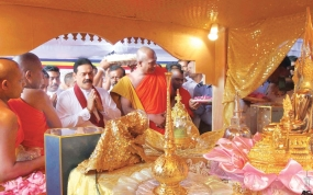 Deposit of Sacred Relics in the dome of Sandahiru Stupa on Nov.23