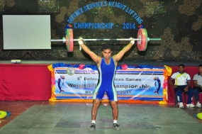 Defence services weight lifting championship 2014