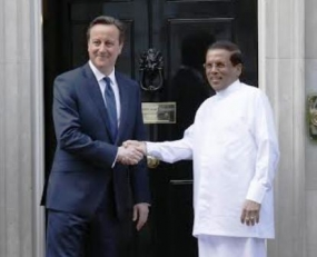President Sirisena holds bilateral discussions with British PM