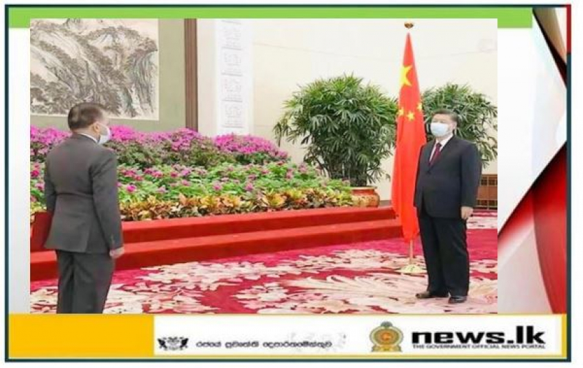 Dr. Palitha Kohona presents Credentials to the Chinese President