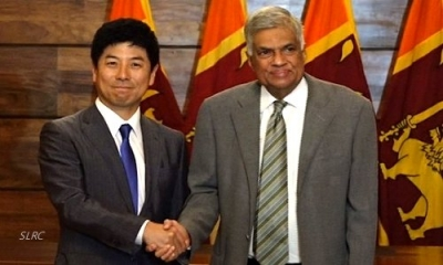 Japanese Foreign Affairs State Minister calls on Sri Lankan Premier