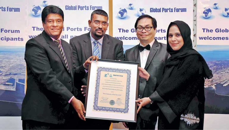 SLPA receives Global Ports Forum's Year 2018 Award