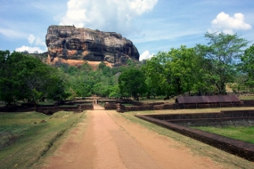 'The Lion Rock' -  an ancient palace in Sri Lanka
