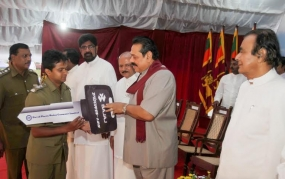 President Hands Over Motorcycles to Kandy District Field Officers