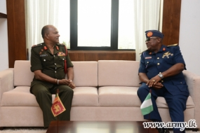Nigerian defence delegation on a study tour in Lanka