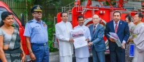 Japan- Sri Lanka Friendship Foundation donates fire trucks