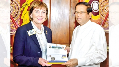 Lions International President meets President
