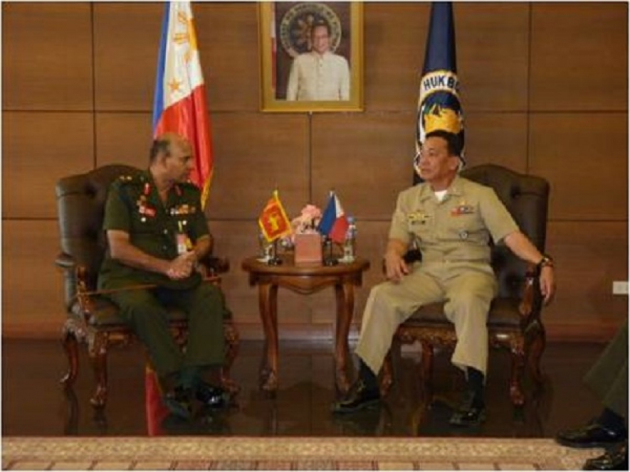 Sri Lankan military delegation visits the Philippines