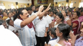 President makes surprise visit to Tissamaharama Women's Convention