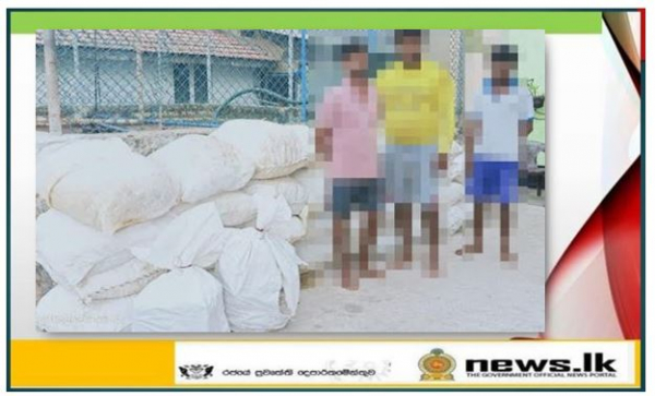 Navy apprehends 05 suspects with smuggled dried turmeric and other contraband