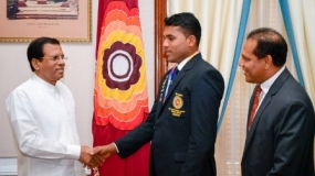 Paralympics winner meets President