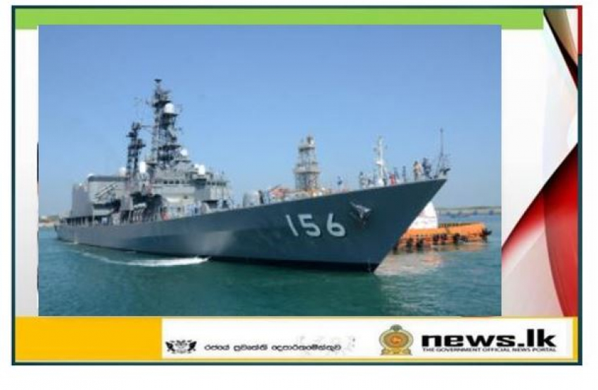 Japan Maritime Self-Defense Force ship arrives at port of Hambantota