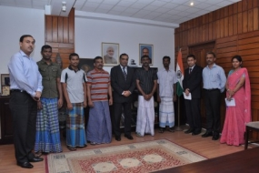 Indian fishermen pardoned by the President return home