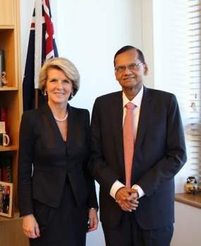 SRI LANKA REQUESTS AUSTRALIAN SUPPORT FOR INITIATIVES AGAINST TERRORIST FINANCING