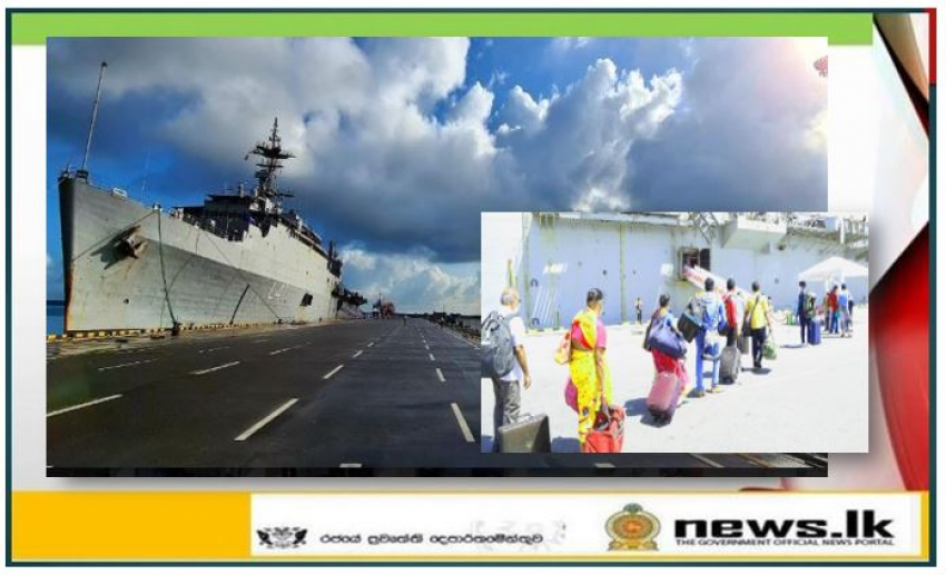 Indian Naval Ship Jalashwa repatriates nearly 700 stranded Indian Nationals from Sri Lanka