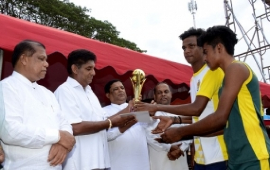 Jaffna bare foot team wins the Enterprise Sri Lanka Reconciliation volleyball tournament