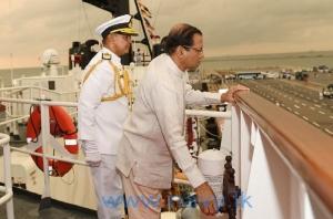 President commissions  SLNS Gajabahu at Colombo harbour