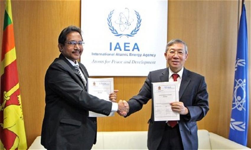 Sri Lanka signs  Country Programme Framework with IAEA
