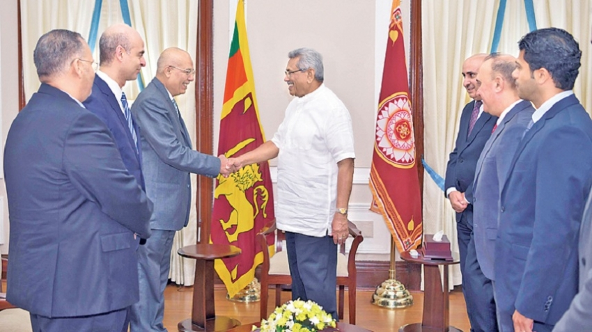 MIDDLE EAST ENVOYS CALL ON PRESIDENT