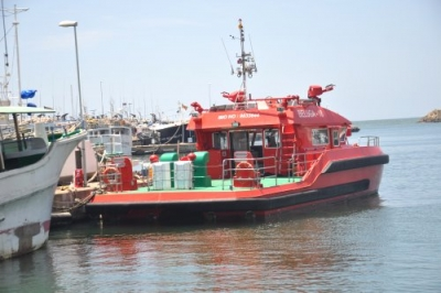 First locally made fire-fighting craft launched to control fires at sea