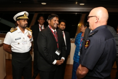 State Minister visits 'Ocean Shield'
