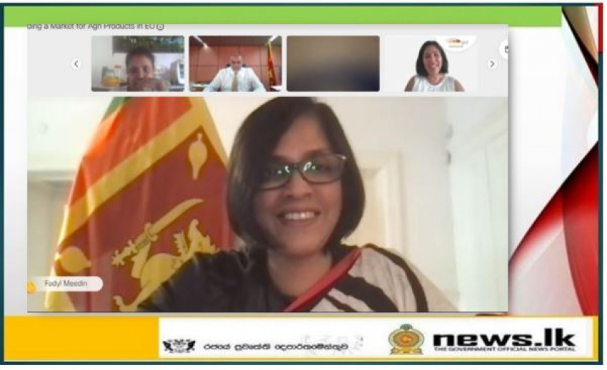 """Webinar hosted by Embassy of Sri Lanka in Germany on """"Finding a Market for Agri Products in EU"""" concludes successfully"""