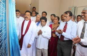 President opens Mahindodaya Technical Laboratory at Kantale Central College