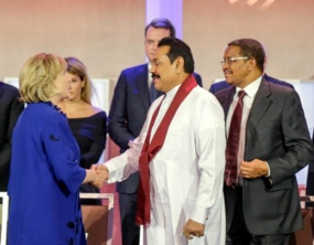 President Rajapaksa Joins Secretary Clinton at Clinton Global Initiative Annual Meeting