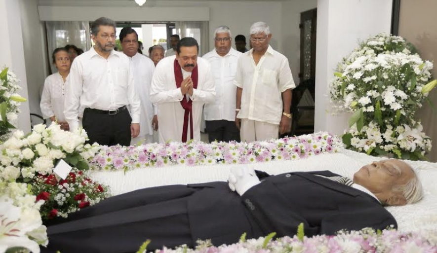 President Pays Last Respect to Late Mr.Seevali Ratwatte