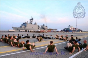 US – Sri Lanka Marine personnel conduct joint training exercises