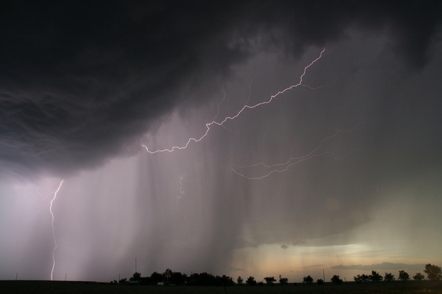 Afternoon or evening thundershowers at several places