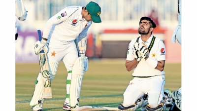 Abid achieves record in Pakistan's drawn Test