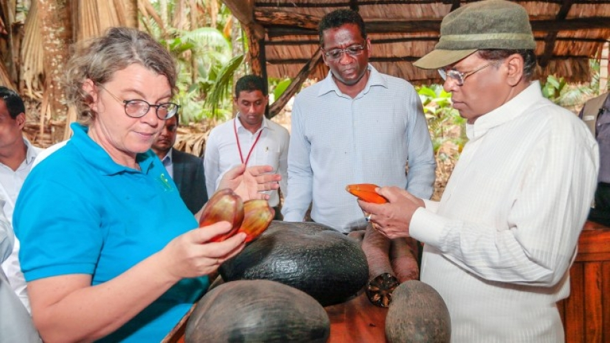 President takes part in a series of events in Seychelles