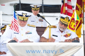 Sri Lanka Navy ceremonially takes over US Coast Guard Cutter 'Sherman' at Honolulu