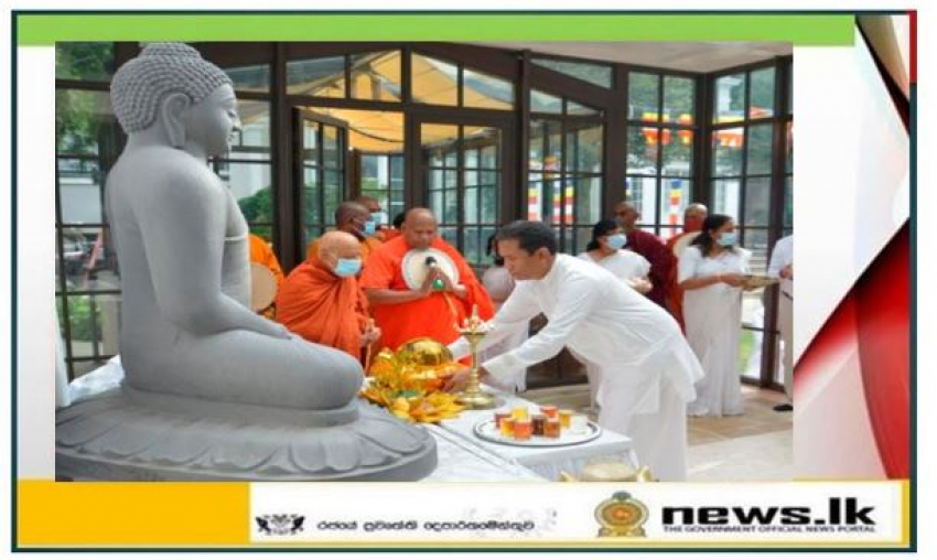 Sri Lankan Embassy in Washington D.C. Organizes a Special Event to  Unveil the Statue of Lord Buddha and to Venerate the Sacred Jaya Sri Maha Bodhi Tree Sapling at the Embassy Premises